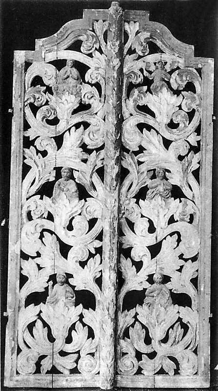 Царские врата, которые хранились в колокольне Троицкой церкви в м. Зинькове Летичевского уезда Подольской губ.