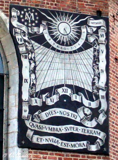Сонячний годинник XVII ст. на стіні…