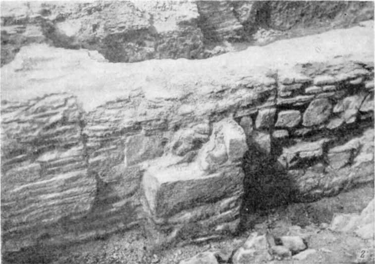 Табл. IV-2. Развалины Десятинной церкви. Кладка фундамента и нижней части южной стены