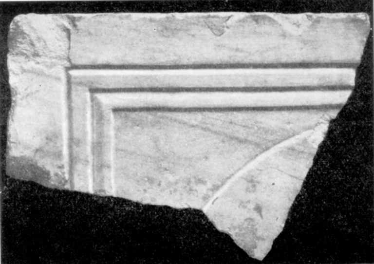 Табл. IX-1. Развалины Десятинной церкви. Фрагменты мраморных плит