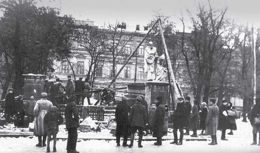 1923 р. Демонтаж пам'ятника