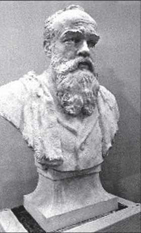 Скульптор І. Макогон. Портрет М. Грушевського. 1990-ті рр.
