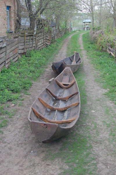 Деревянная лодка-однодеревка