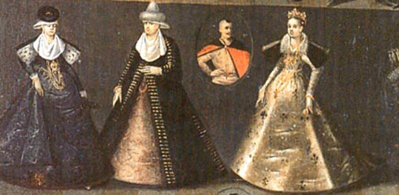Dresses of noble ladies