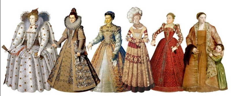 Dresses of noble ladies
