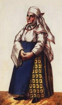 Type of peasant, XVIII c.