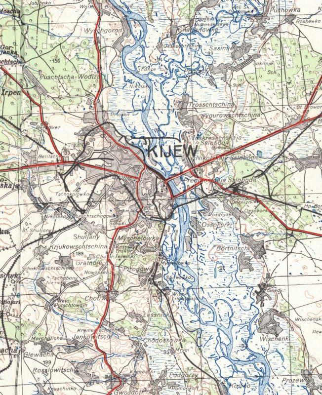 Мапа Києва і околиці 1941 р. З архіву…