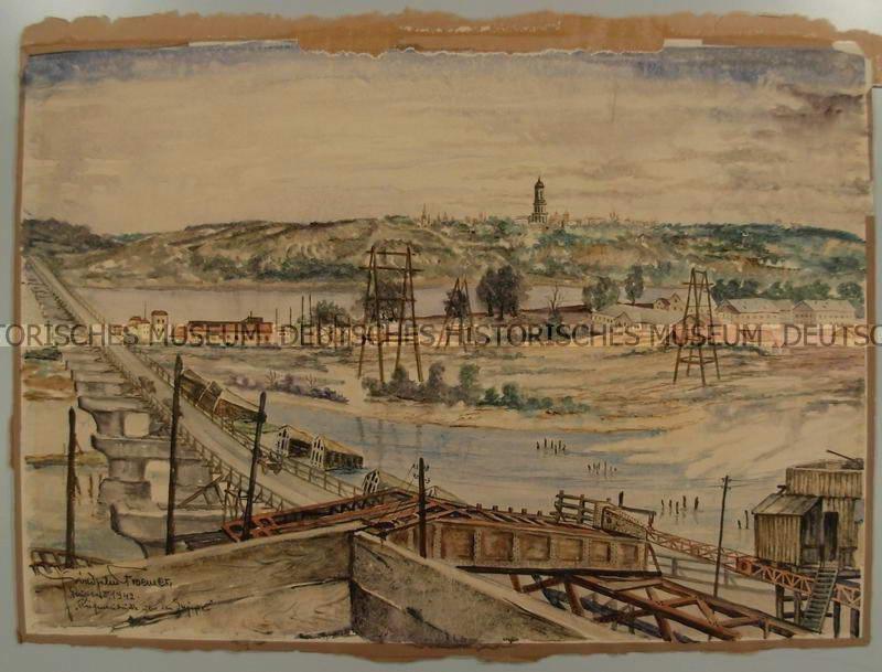 Міст Рейхенау (Наводницький) з боку…