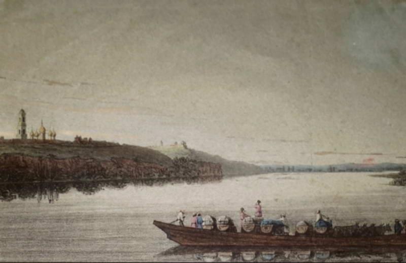 Переправа через Дніпро у лаври, 1814 р.