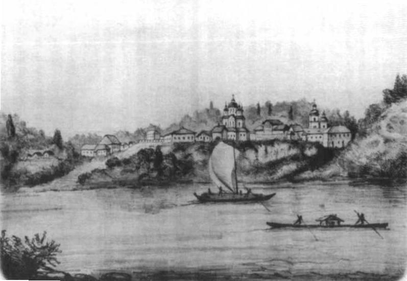 Зображення човнів на Дніпрі, 1843 р.