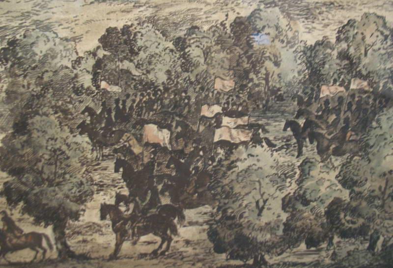 Dibrova (Oak forest) on Obolon, 1651