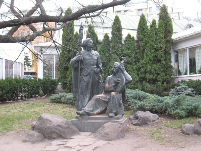 Sculpture of Cossacks