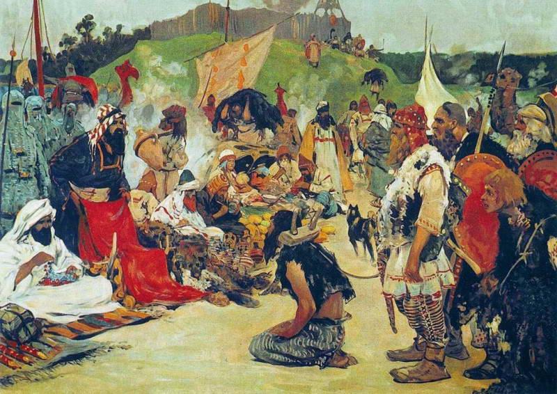 Русь продає рабів з слов'янських земель