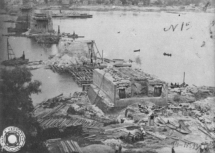 Руїни Ланцюгвового мосту, 1920 р.