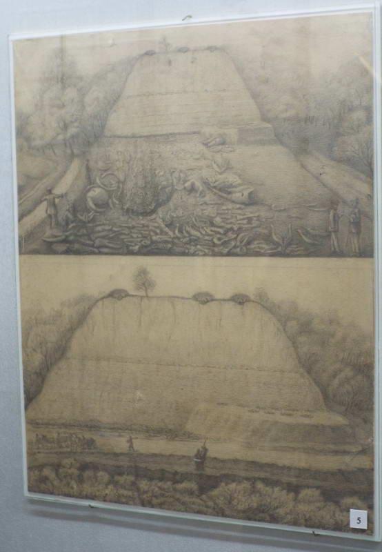 Замальовка місця розкопок Кирилівської…