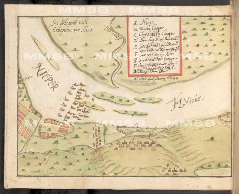 Київ в 1651 р. Диспозиція військ Януша…