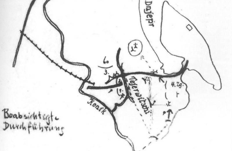 Німецька мапа району острова Чернечий