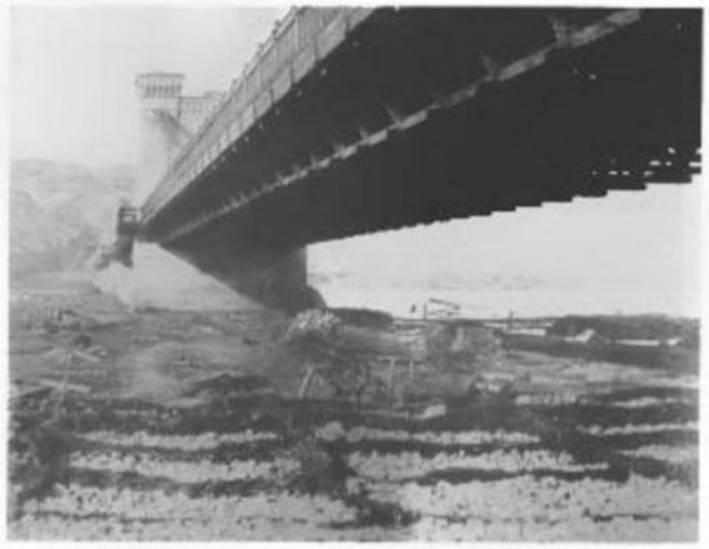 Ланцюговий міст у Києві, фото 1850-х рр.