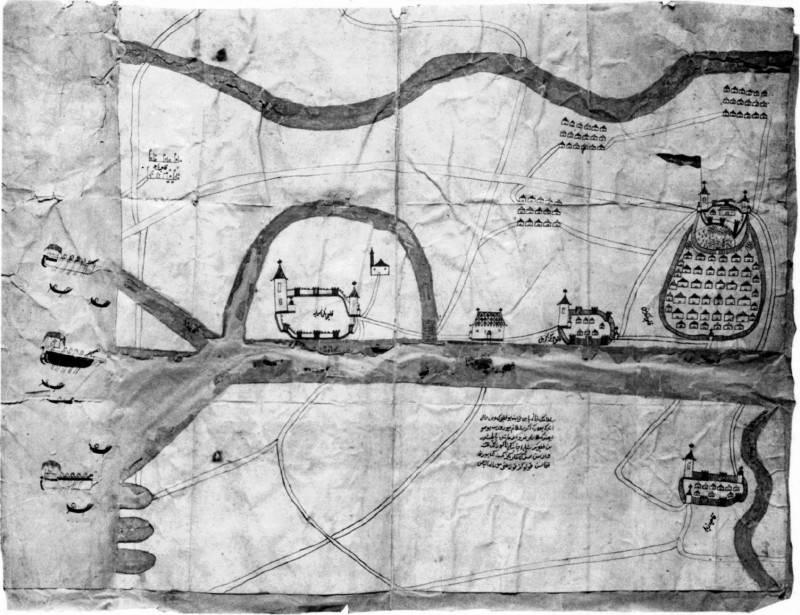 Карта Днепра, составленная турецким…