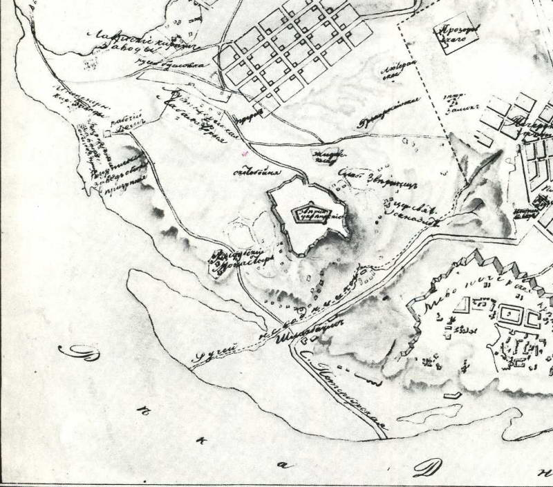 Nevodnychi tract map for 1833