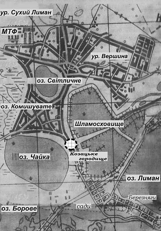 Карта Лимана с окрестностями