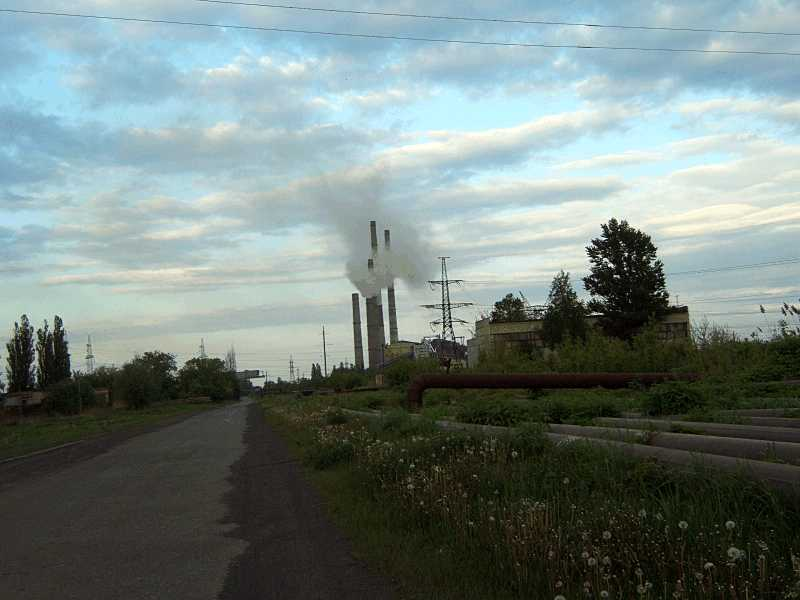 11. Zmiev electropower station - close…