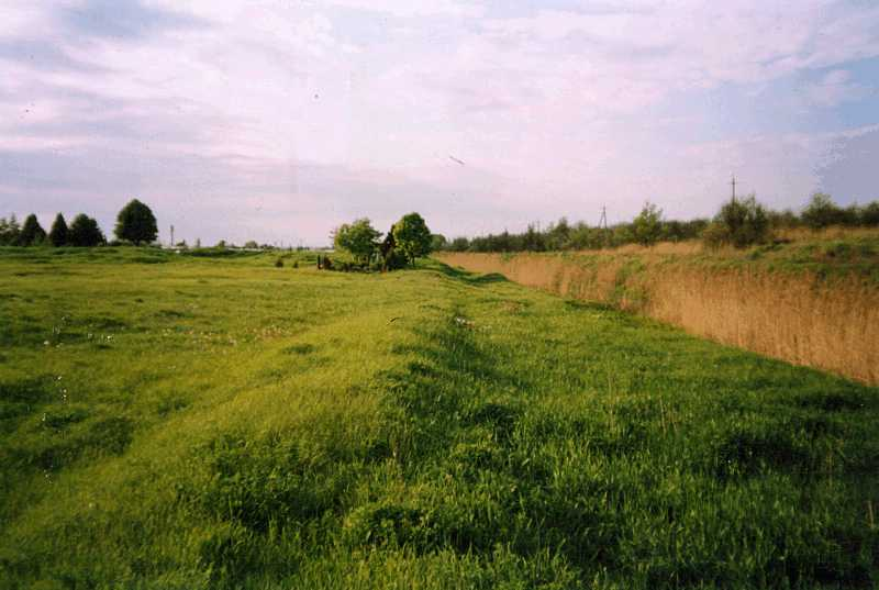 44. Traces of ramparts and fosses of…