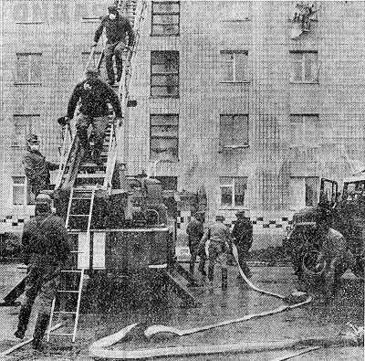 Дезактивация зданий в Припяти