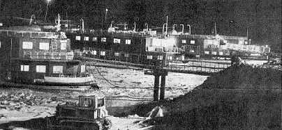 Селище Якір вночі